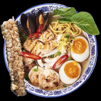 Рамен Шою з морепродуктами