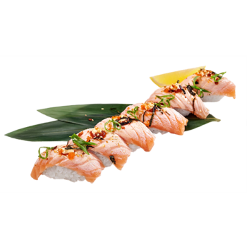 Сет Нігірі з лососем абурі 🌶