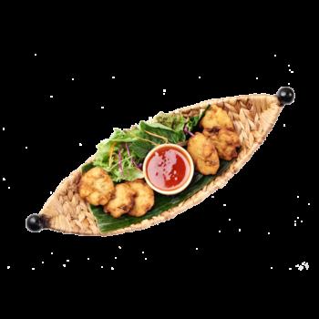 Фішкейки з лосося та креветки з тайським соусом 🌶🌶